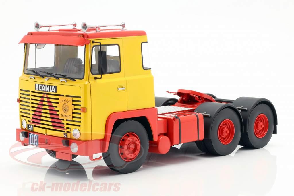 Scania LBT 141 tracteur année de construction 1976 jaune / rouge 1:18 Road Kings