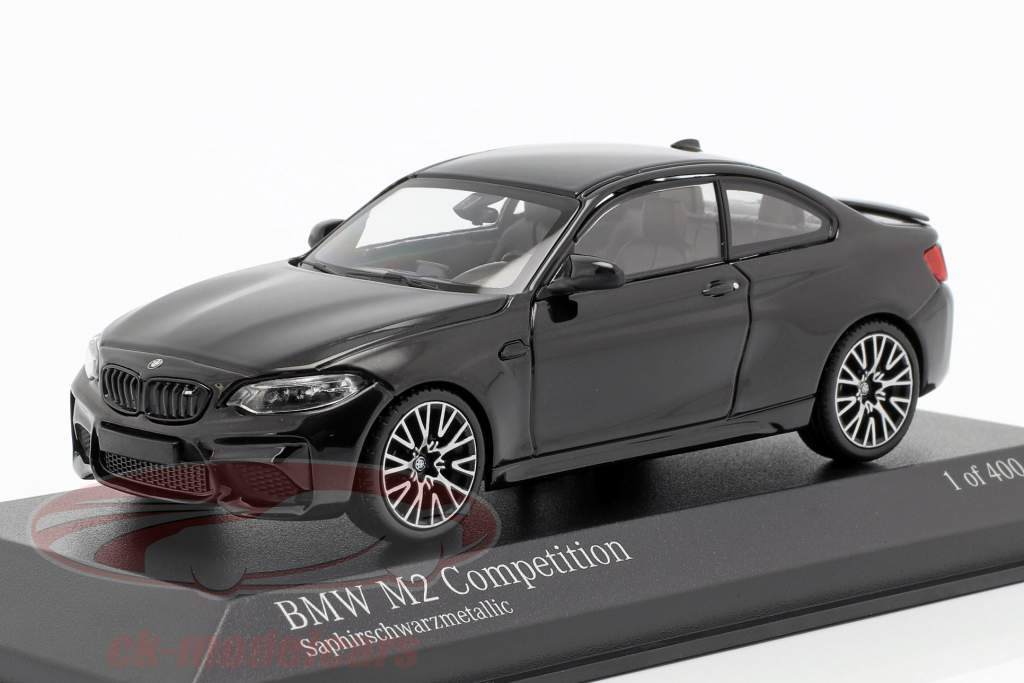 BMW M2 Competition year 2019 sapphire black metallic 1:43 Minichamps