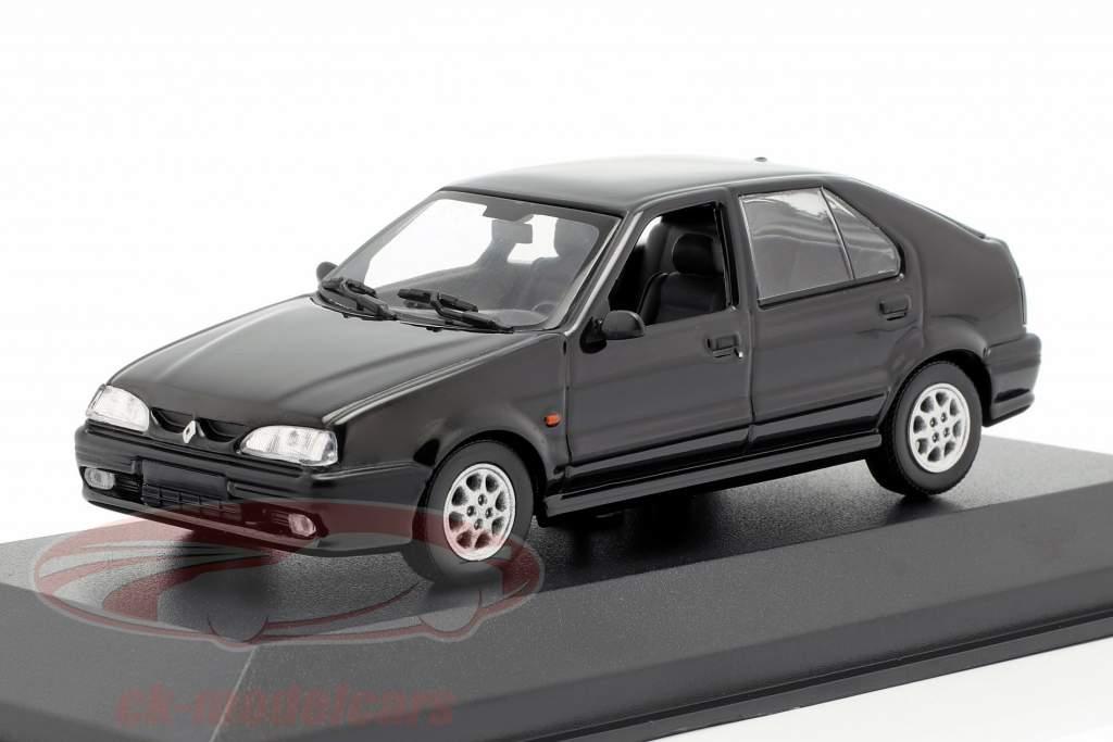 Renault 19 ano de construção 1995 preto 1:43 Minichamps