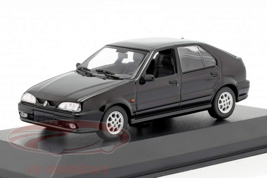 Renault 19 año de construcción 1995 negro 1:43 Minichamps
