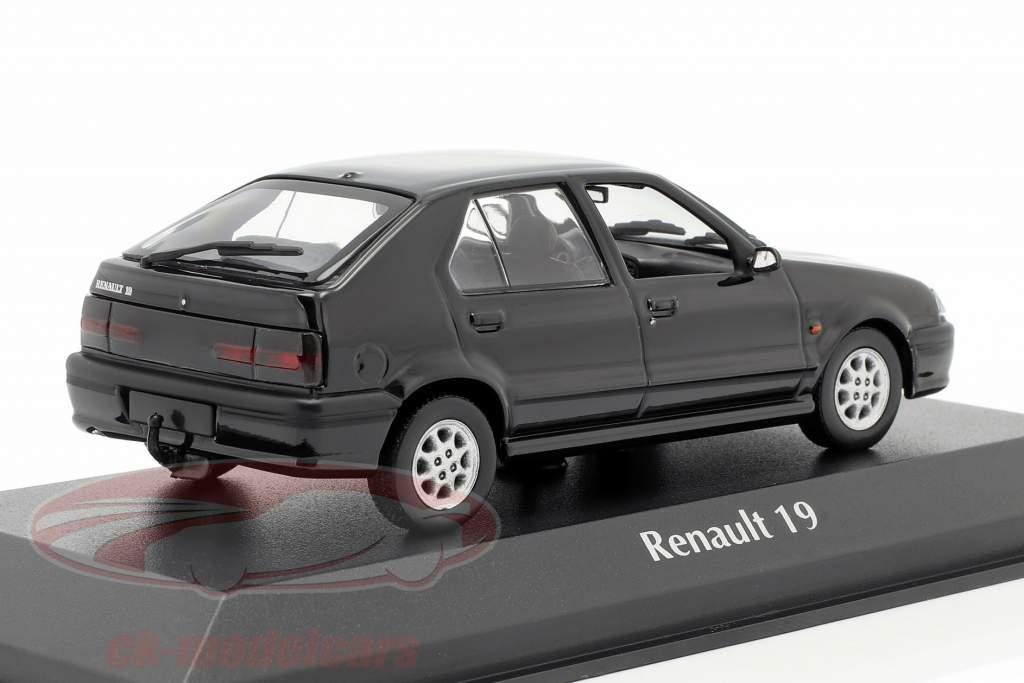 Renault 19 Opførselsår 1995 sort 1:43 Minichamps