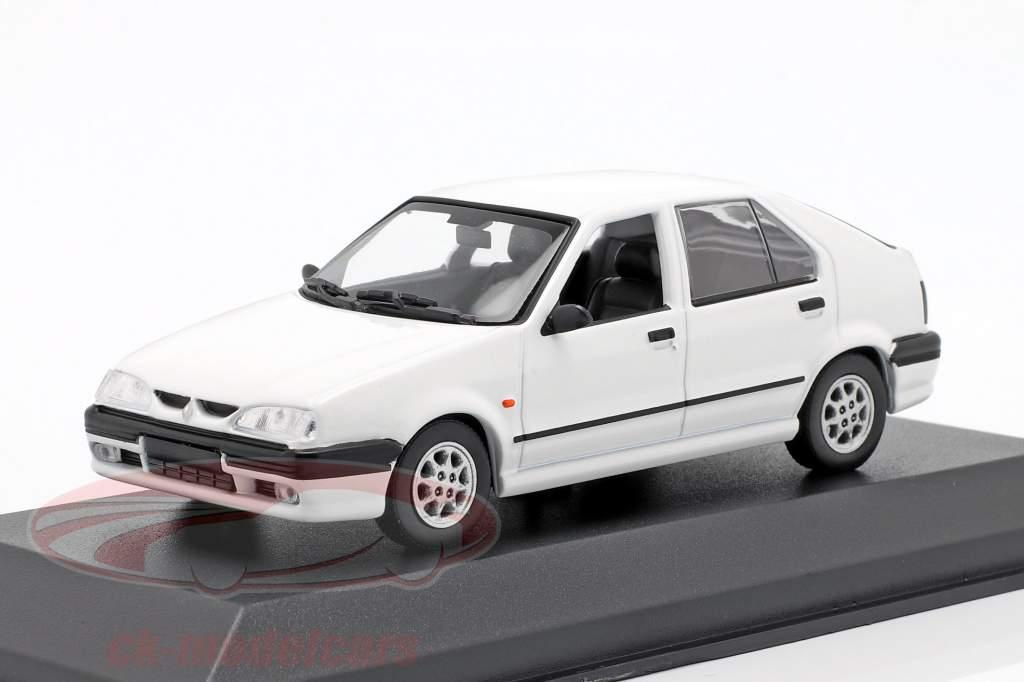 Renault 19 ano de construção 1995 branco 1:43 Minichamps