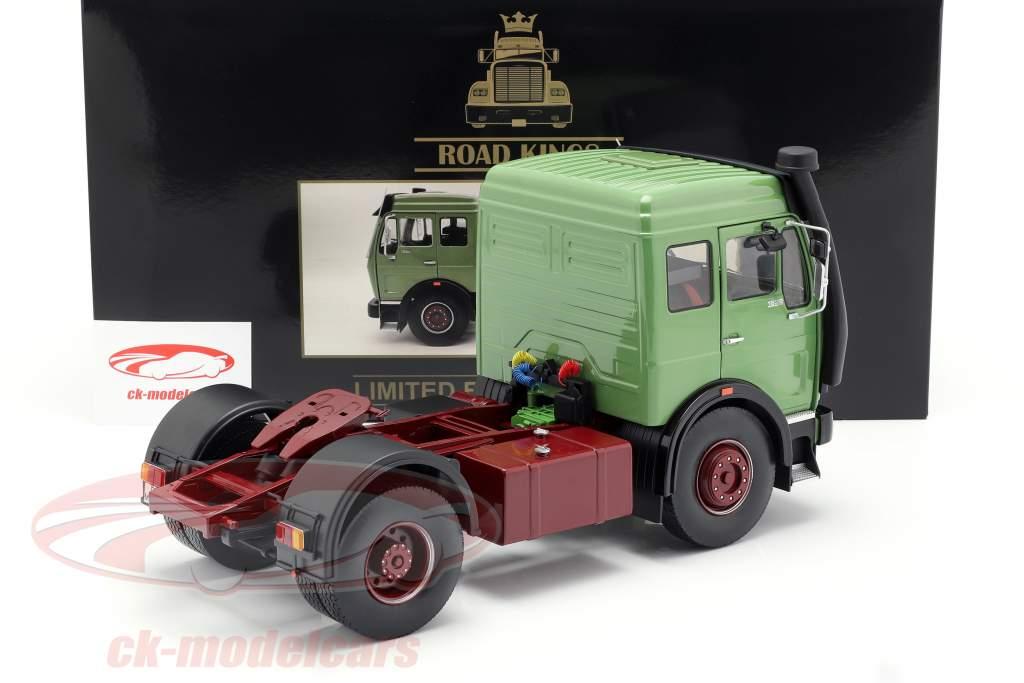 Mercedes-Benz NG 1632 trattore anno di costruzione 1973 verde 1:18 Road Kings