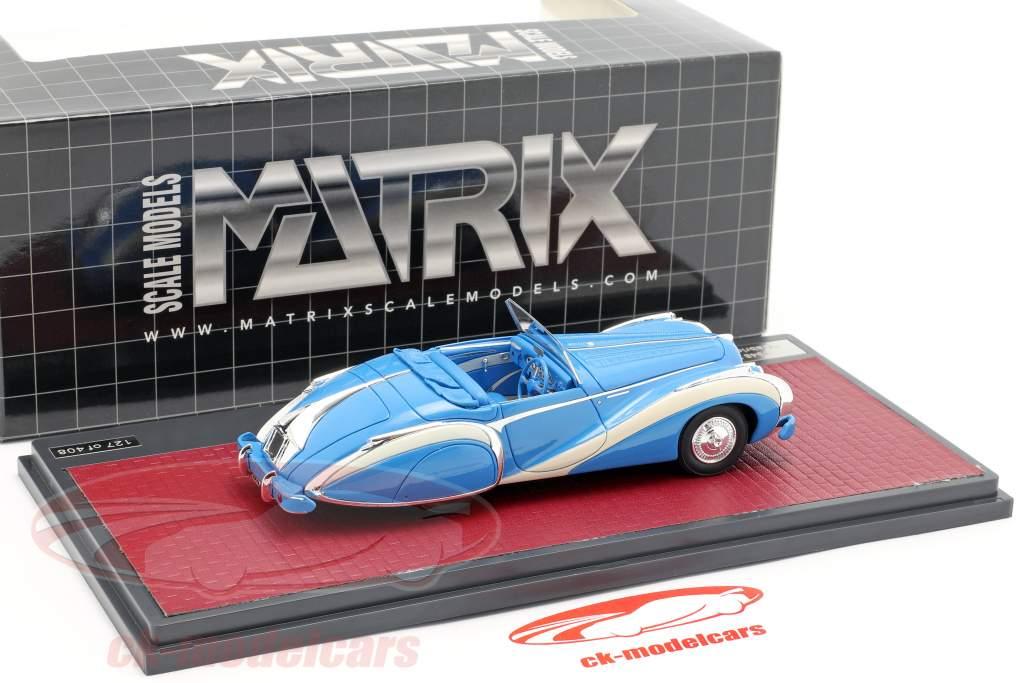 Talbot-Lago T26 GS cabriolé Saoutchik open Top 1948 azul 1:43 Matrix