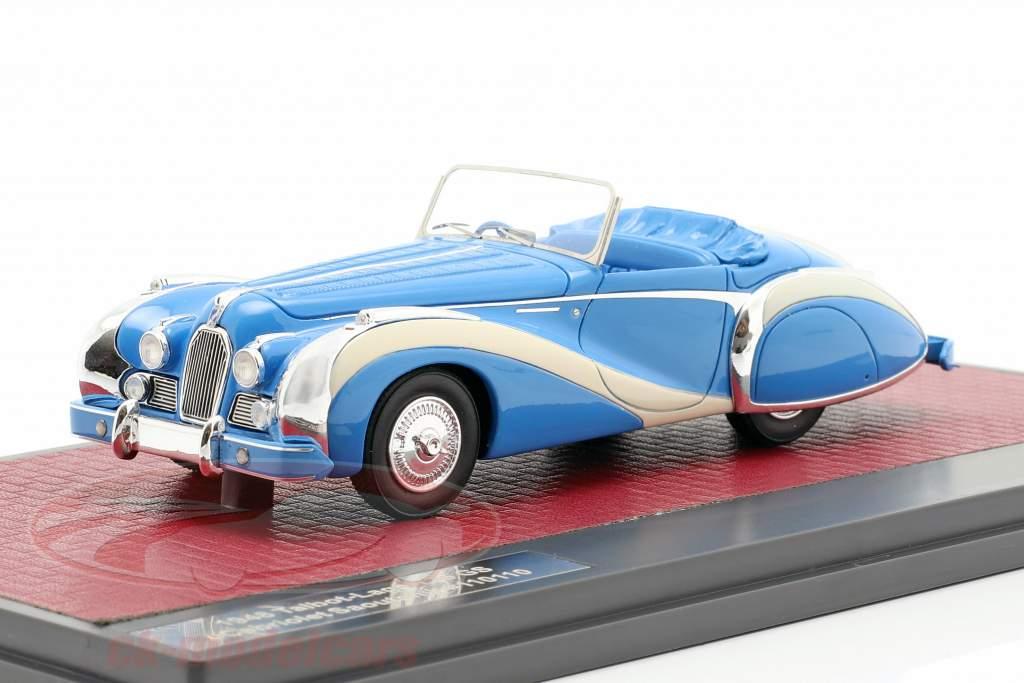 Talbot-Lago T26 GS Cabriolet Saoutchik open Top 1948 blue 1:43 Matrix