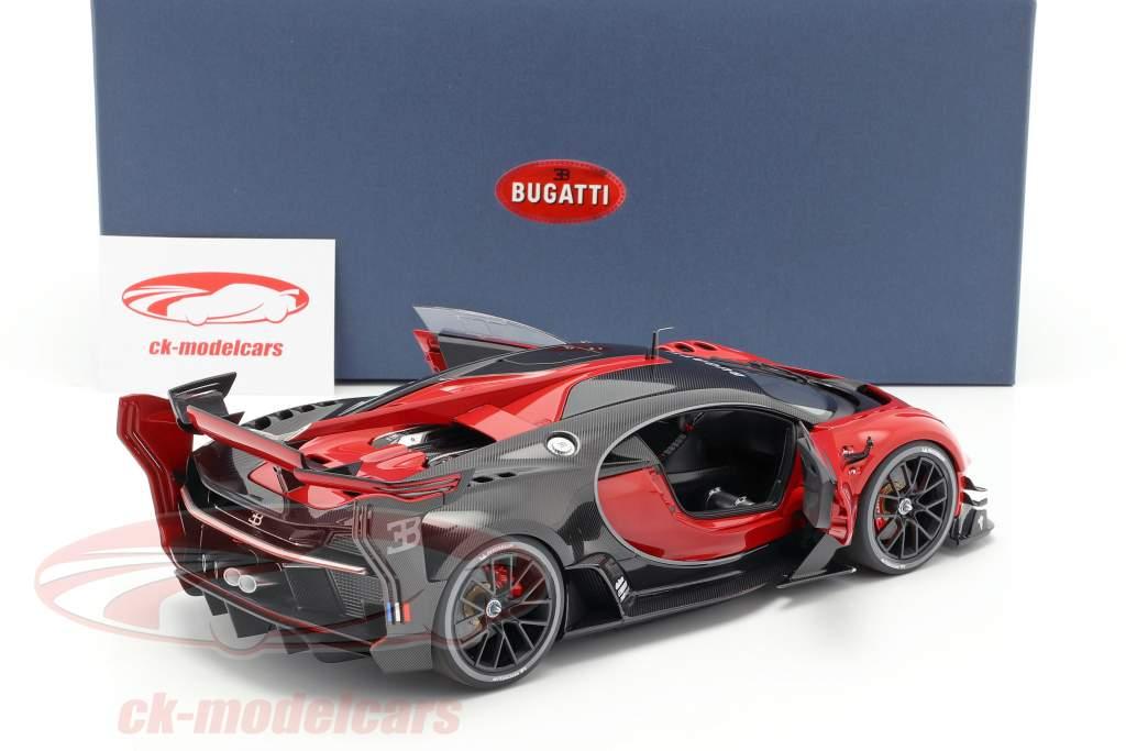 Bugatti visão GT ano de construção 2015 italian vermelho / carbon preto 1:18 AUTOart