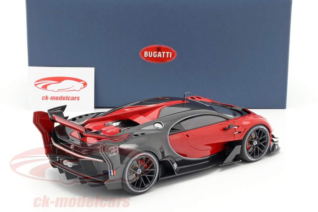 Bugatti Vision GT Baujahr 2015 italian rot / carbon schwarz 1:18 AUTOart