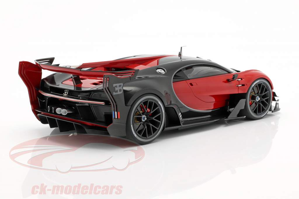 Bugatti vision GT Opførselsår 2015 italian rød / carbon sort 1:18 AUTOart
