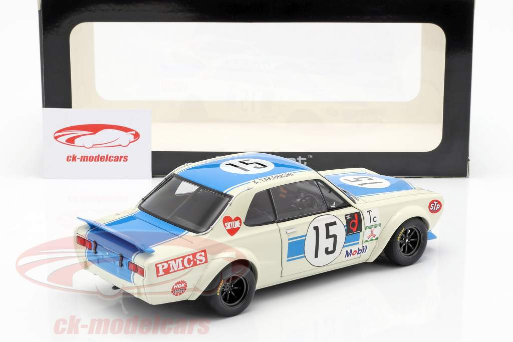 Nissan Skyline GT-R (KPGC-10) Vencedor do #15 Racing 300km Fuji Speed Race 1972 1:18 AUTOart