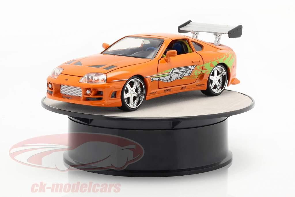 tocadiscos diámetro ca. 20 cm para coches modelo en escala 1:24 plata AUTOart