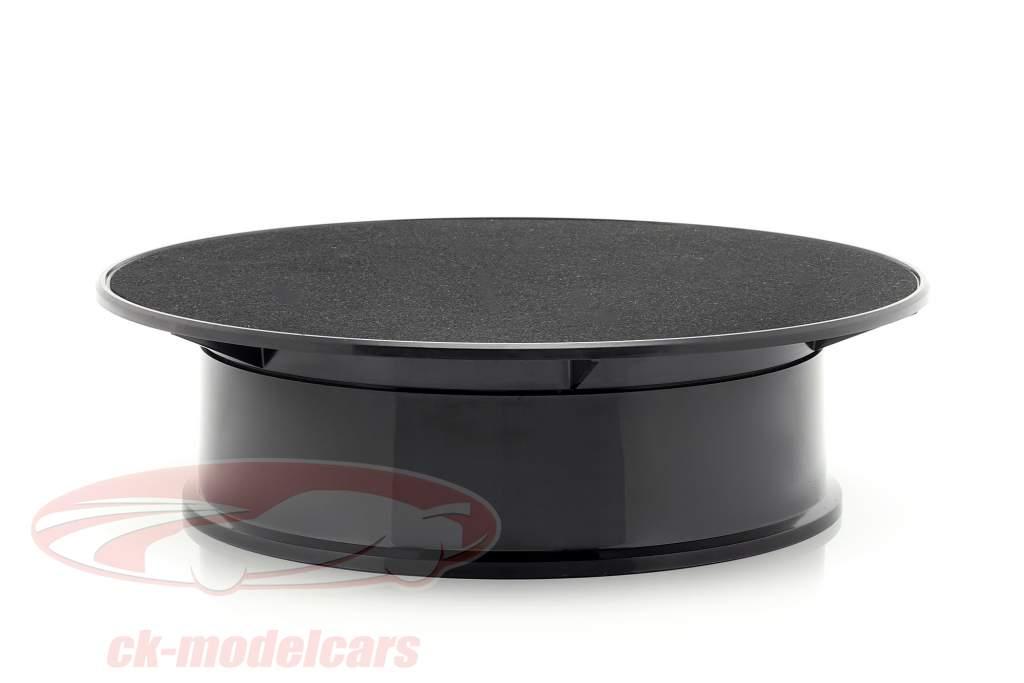 pladespiller diameter ca. 20 cm til modelbiler i skala 1:24 sort AUTOart