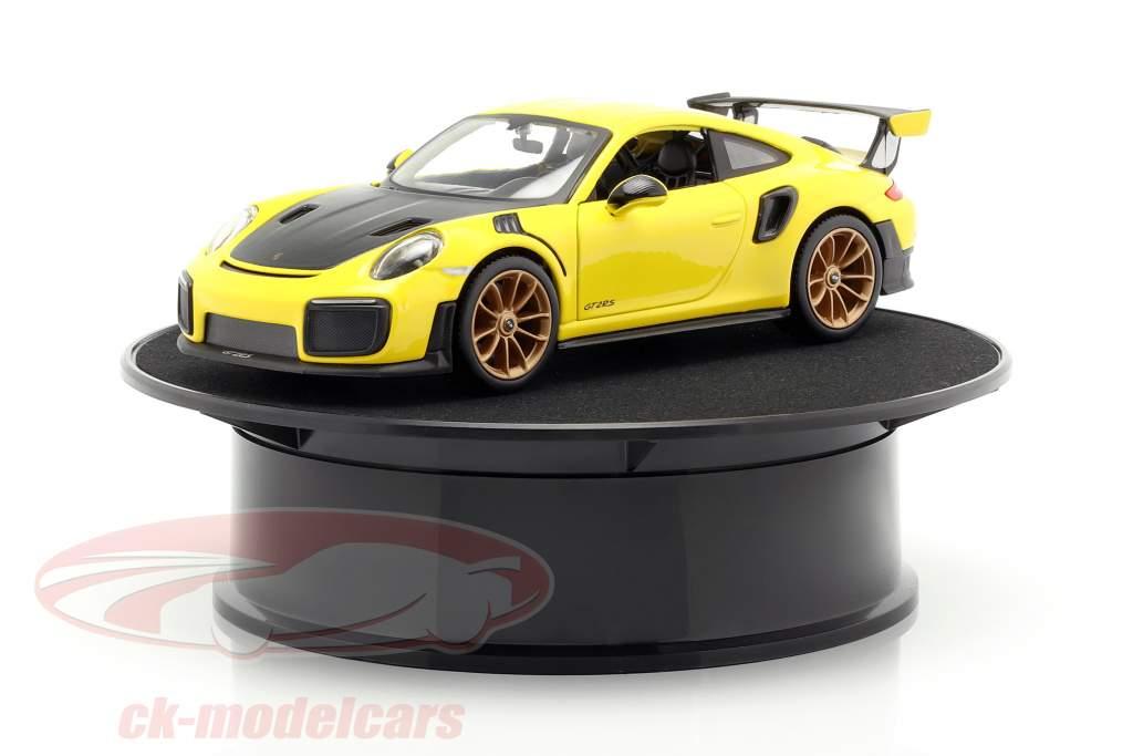 platine diamètre ca. 20 cm pour voitures de modèle en échelle 1:24 noir AUTOart