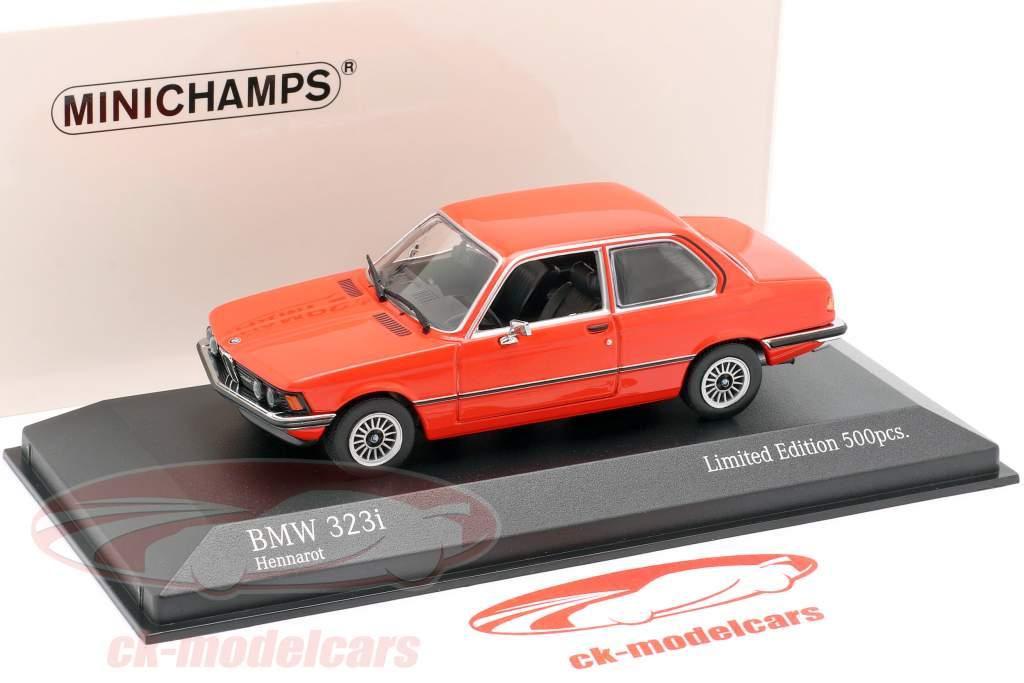 BMW 323i (E21) Opførselsår 1975 henna rød 1:43 Minichamps