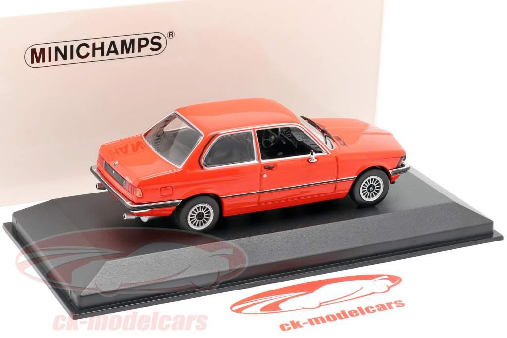 BMW 323i (E21) année de construction 1975 henné rouge 1:43 Minichamps