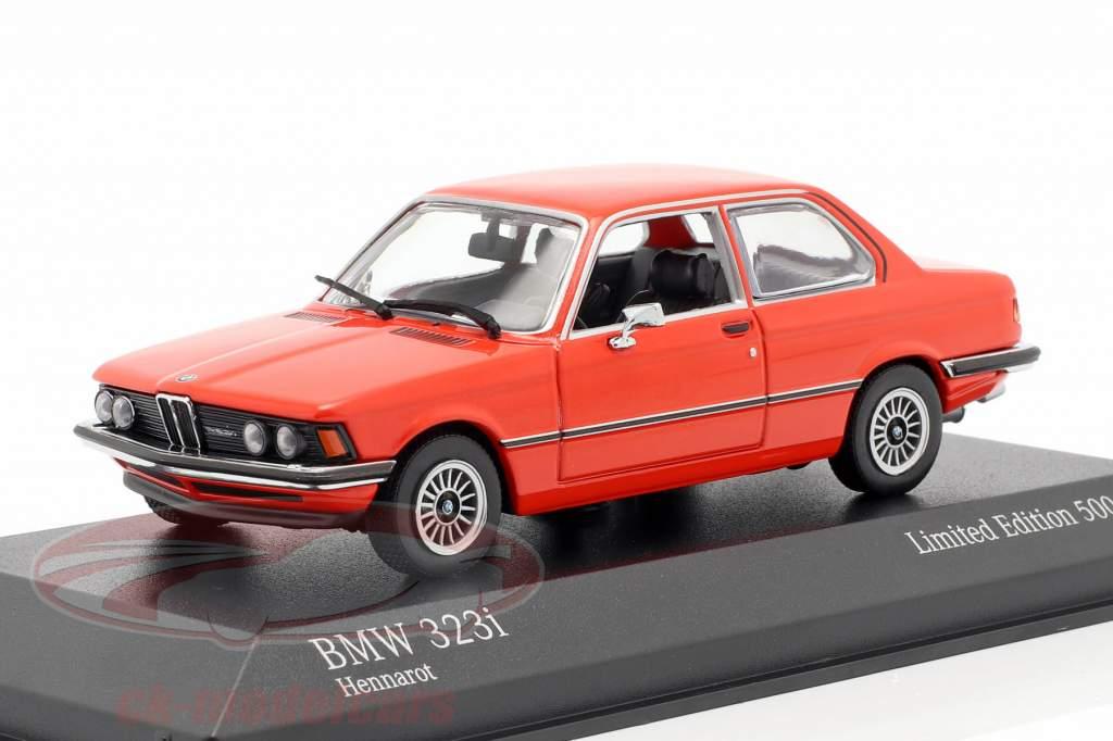 BMW 323i (E21) ano de construção 1975 hena vermelho 1:43 Minichamps