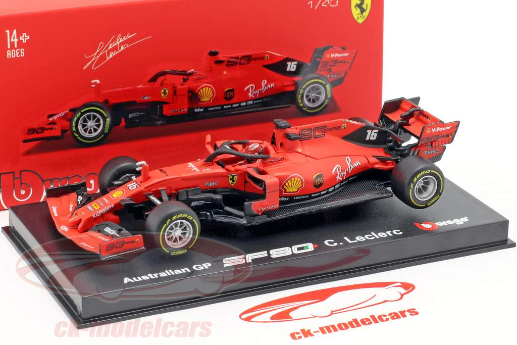 Charles Leclerc Ferrari SF90 #16 Australian GP F1 2019 With Showcase 1:43 Bburago