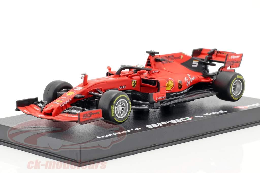 Sebastian Vettel Ferrari SF90 #5 australiano GP F1 2019 con escaparate 1:43 Bburago