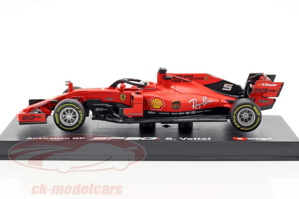 Sebastian Vettel Ferrari SF90 #5 australiano GP F1 2019 con vetrina 1:43 Bburago