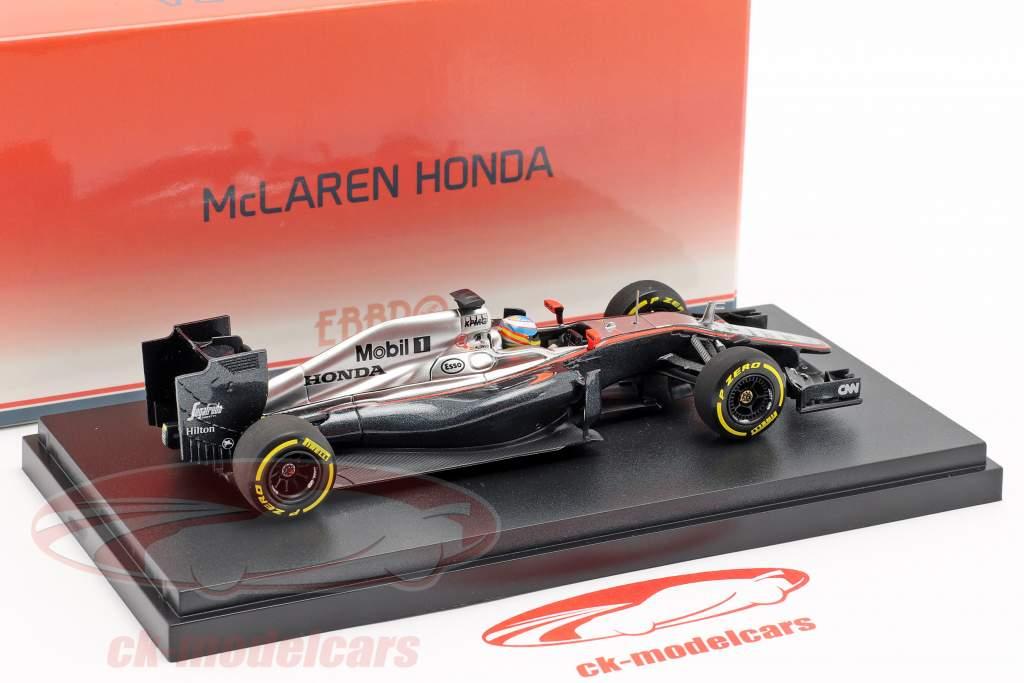 Fernando Alonso McLaren MP4-30 #14 cedo temporada fórmula 1 2015 1:43 Ebbro