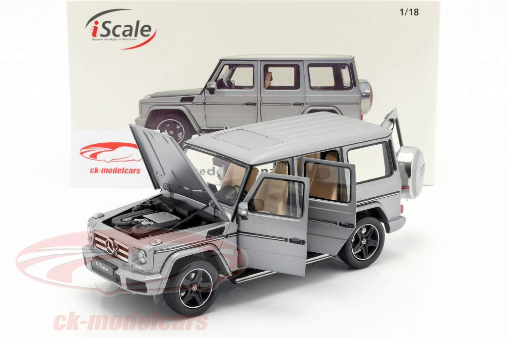Mercedes-Benz G级 (W463) 建造年份 2015 designo 铂 magno 1:18 iScale