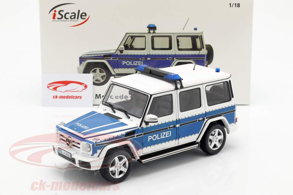 Mercedes-Benz G-Klasse (W463) 2015 politie 1:18 iScale