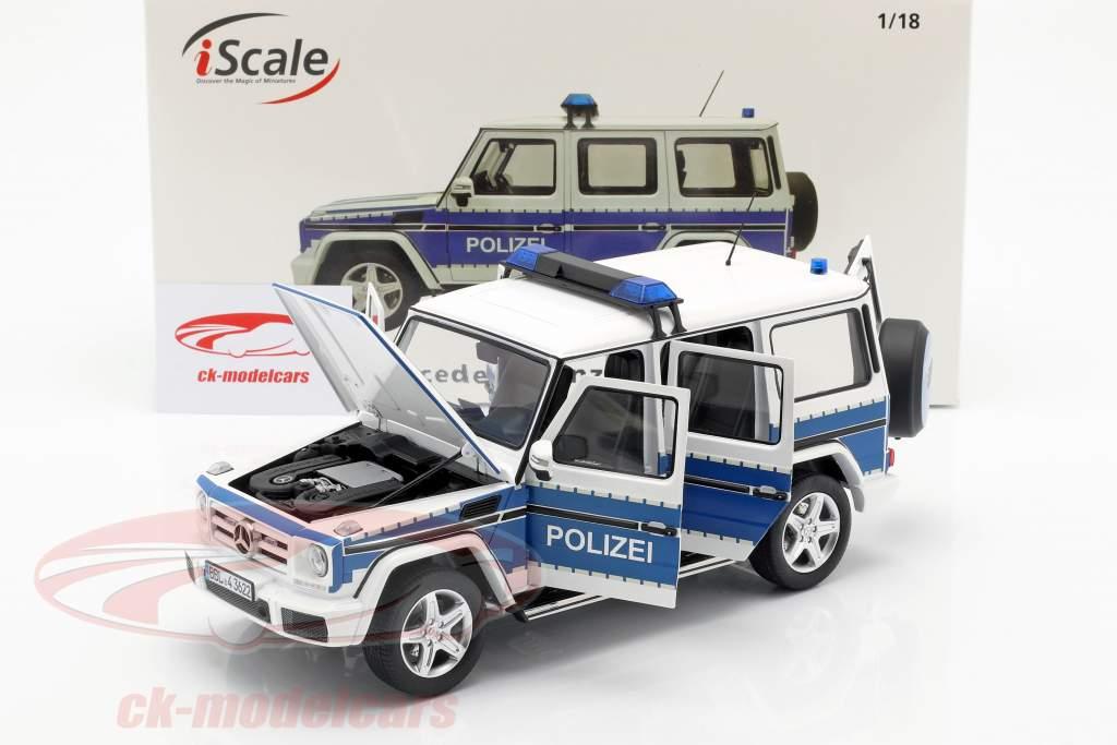 Mercedes-Benz G-Klasse (W463) 2015 Polizei 1:18 iScale