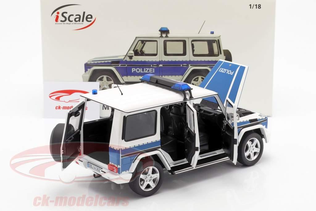Mercedes-Benz G-Class (W463) 2015 policía 1:18 iScale