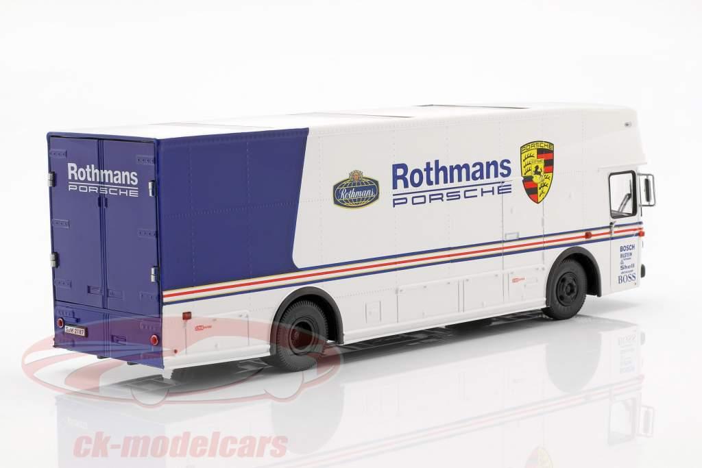 Mercedes-Benz O 317 course camion Rothmans Porsche blanc / bleu 1:43 Schuco