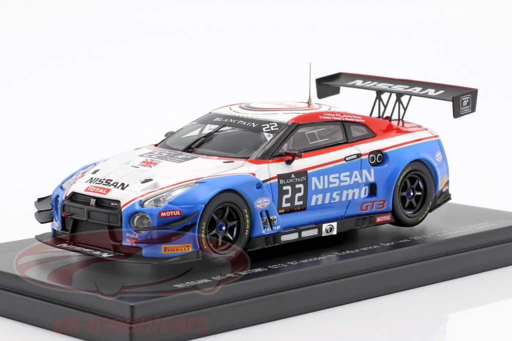 Nissan GT-R GT3 #22 Blancpain Endurance Series 2015 Nissan GT Academy Team RJN 1:43 Ebbro