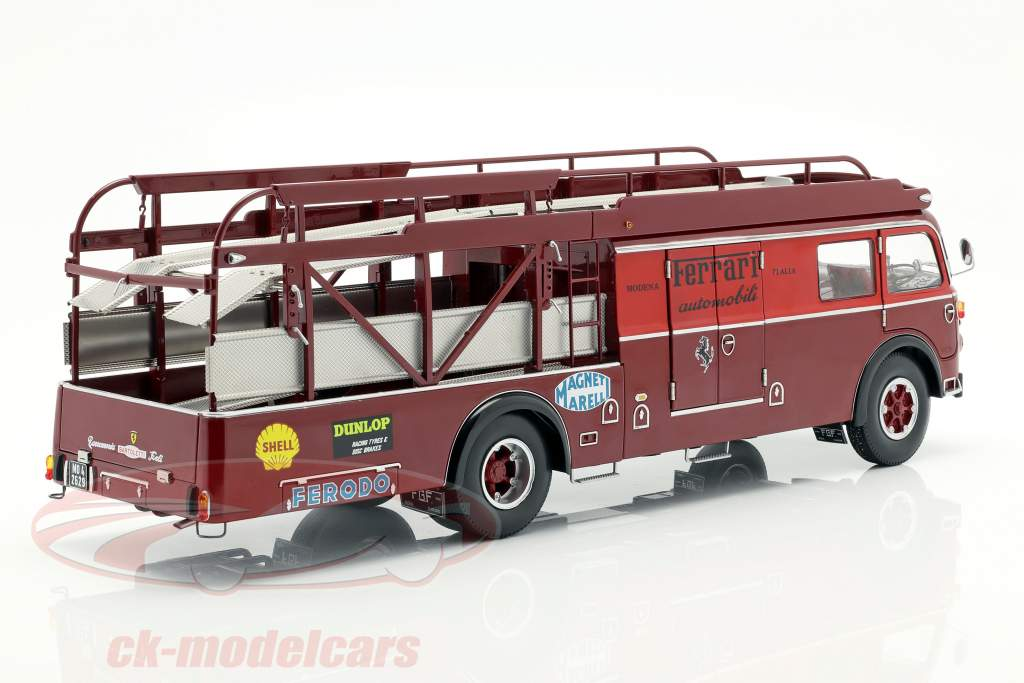 Fiat 642 RN2 Bartoletti Ferrari race vrachtwagen donker rood 1:18 CMR