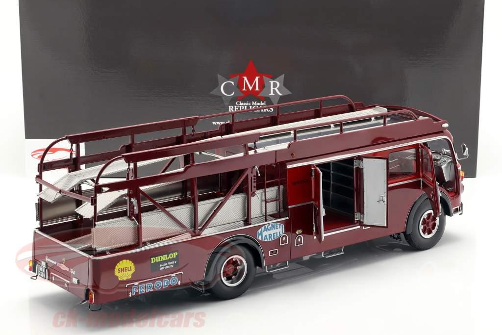 Fiat 642 RN2 Bartoletti Ferrari gara camion scuro rosso 1:18 CMR