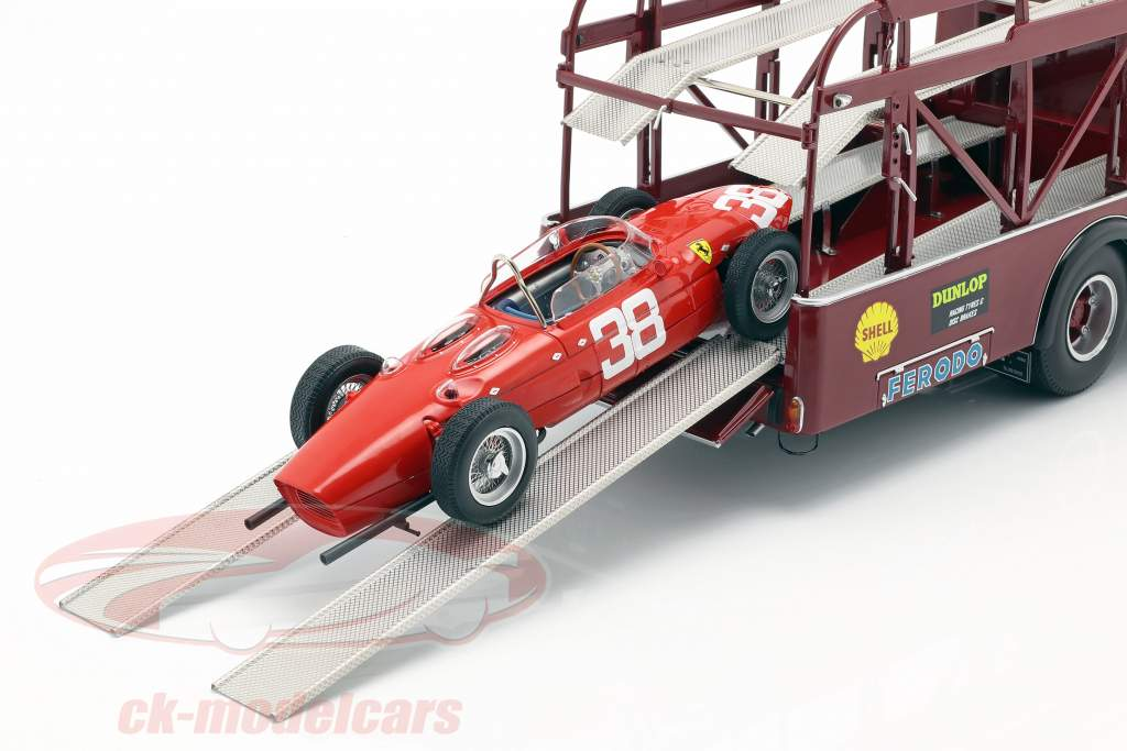 Fiat 642 RN2 Bartoletti Ferrari raça caminhão escuro vermelho 1:18 CMR