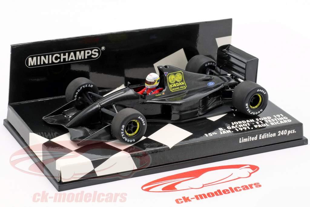 Debe ocio Elegancia  Minichamps 1:43 Bertrand Gachot Jordan 191 F1 Testing Paul Ricard January  1991 410910199 model car 410910199 4012138148475