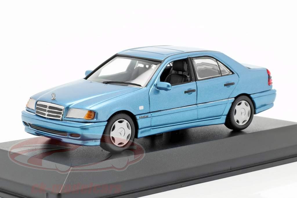 Mercedes-Benz C-Class (W202) année de construction 1997 bleu métallique 1:43 Minichamps