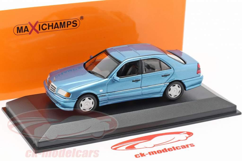 Mercedes-Benz C-classe (W202) ano de construção 1997 azul metálico 1:43 Minichamps