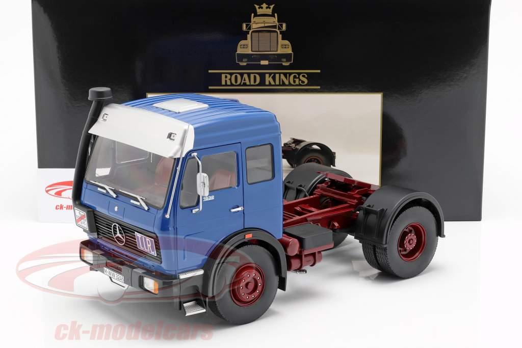 Mercedes-Benz NG 1632 Sattelzugmaschine Baujahr 1973 blau / rot 1:18 Road Kings