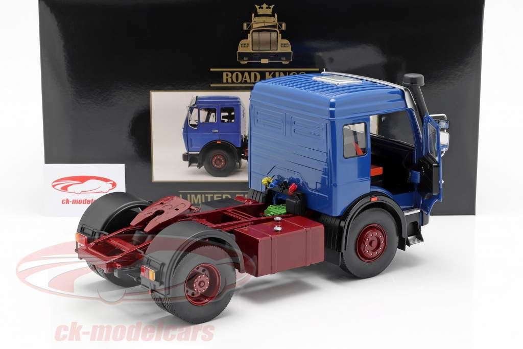 Mercedes-Benz NG 1632 Tractor year 1973 blue / red 1:18 Road Kings