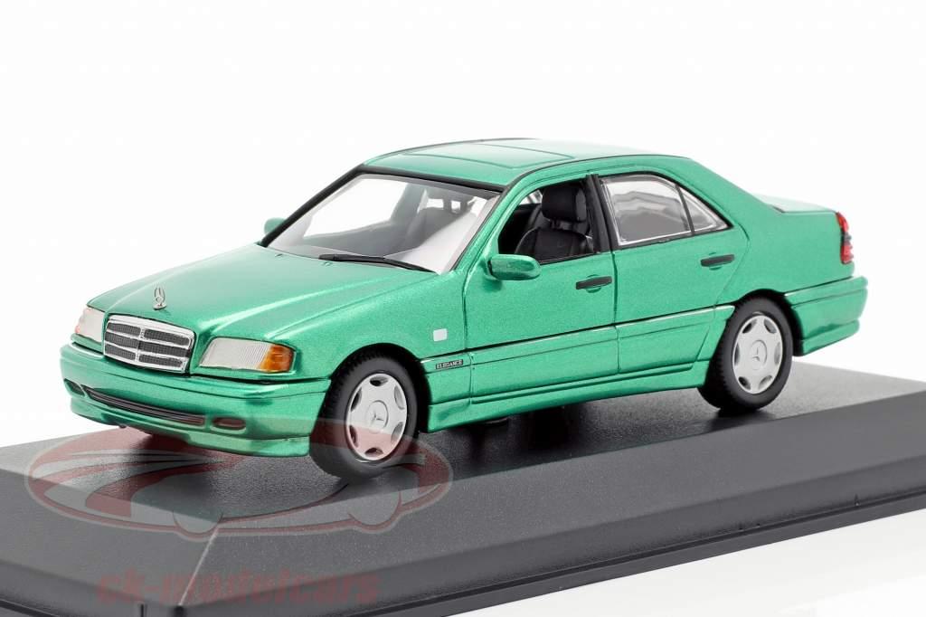 Mercedes-Benz C-Class (W202) year 1997 green metallic 1:43 Minichamps