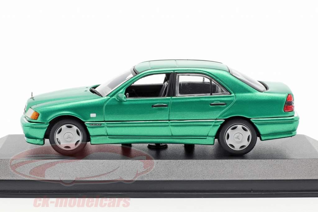 Mercedes-Benz C-klasse (W202) Opførselsår 1997 grøn metallisk 1:43 Minichamps