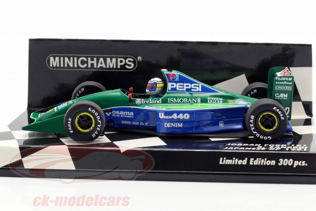 Alessandro Zanardi Jordan 191 #32 Japans GP formule 1 1991 1:43 Minichamps