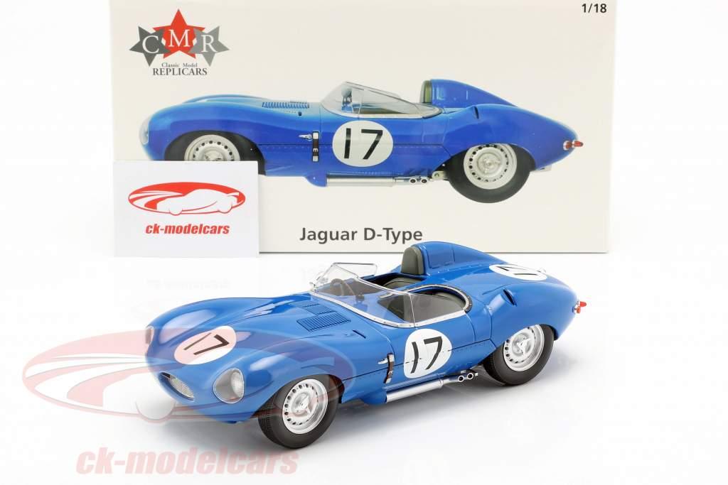 Jaguar D-Type #17 3 ° 24h LeMans 1957 Lucas, Brussin 1:18 CMR