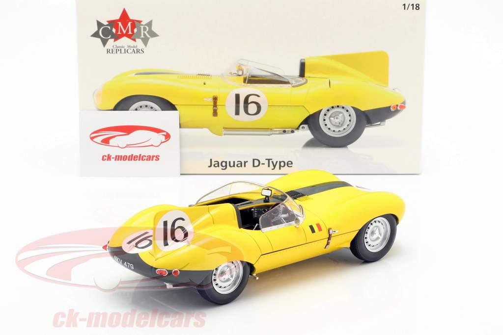 Jaguar D-Type #16 4. 24h LeMans 1957 Frere, Rousselle 1:18 CMR