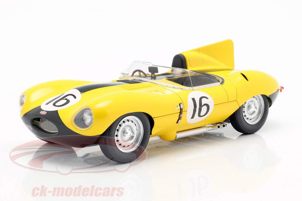 Jaguar D-Type #16 4e 24h LeMans 1957 Frere, Rousselle 1:18 CMR