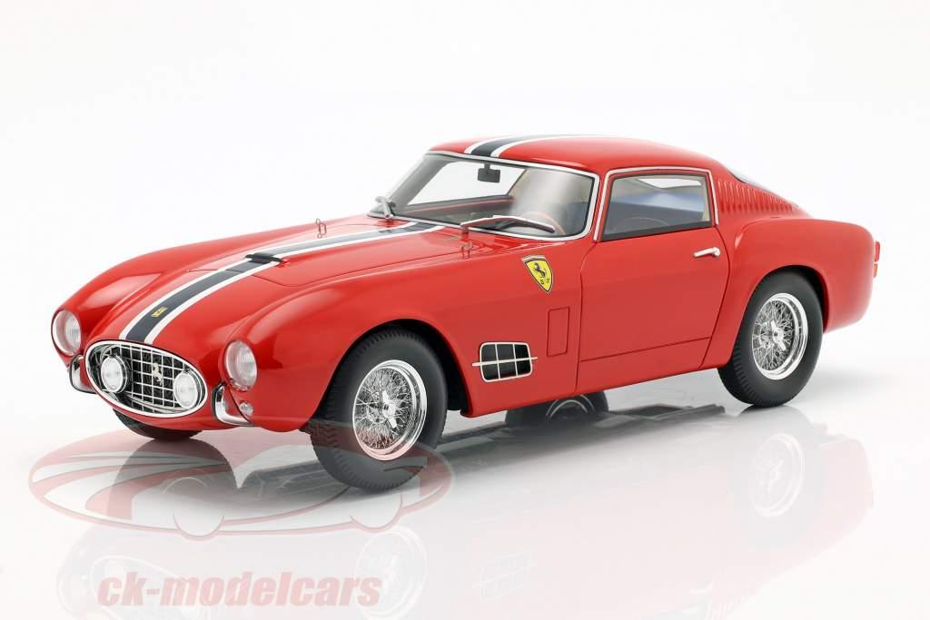 Ferrari 250 GT LWB year 1957 red with blue-white stripe 1:18 CMR