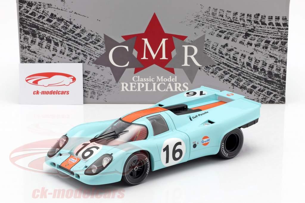 Porsche 917K #16 vinder 1000km Zeltweg 1971 Rodriguez, Attwood 1:18 CMR