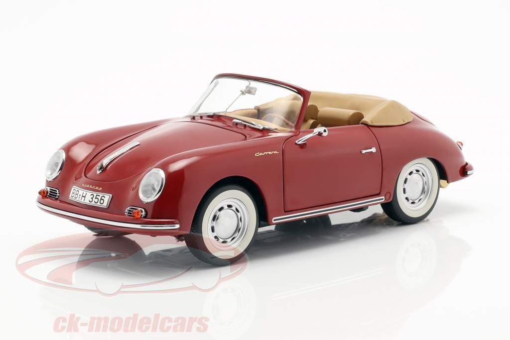 Porsche 356A Carrera cabriolet rubino rosso 1:18 Schuco