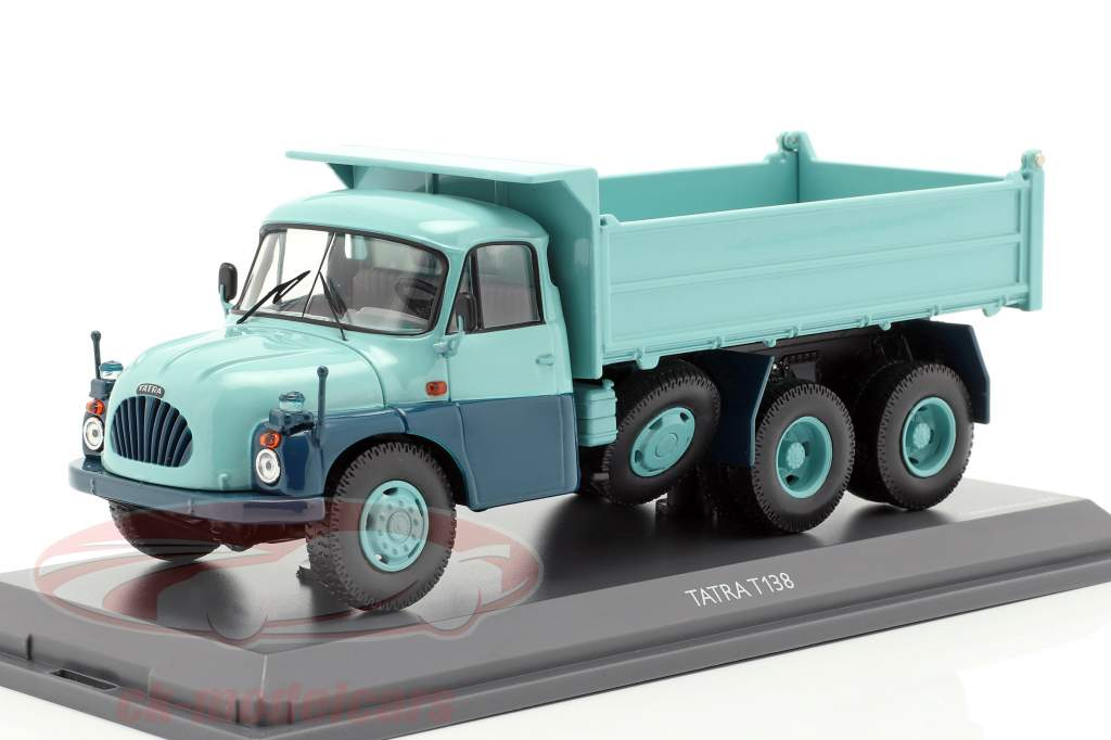Tatra T138 dump Truck turquoise / blue 1:43 Schuco