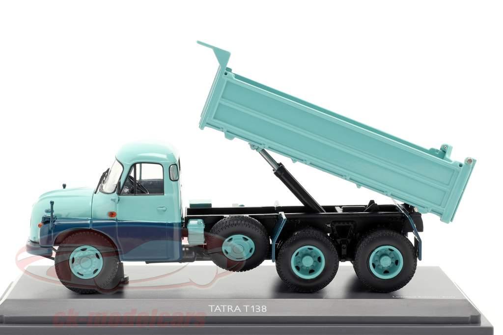 Tatra T138 dump Truck turkoois / blauw 1:43 Schuco