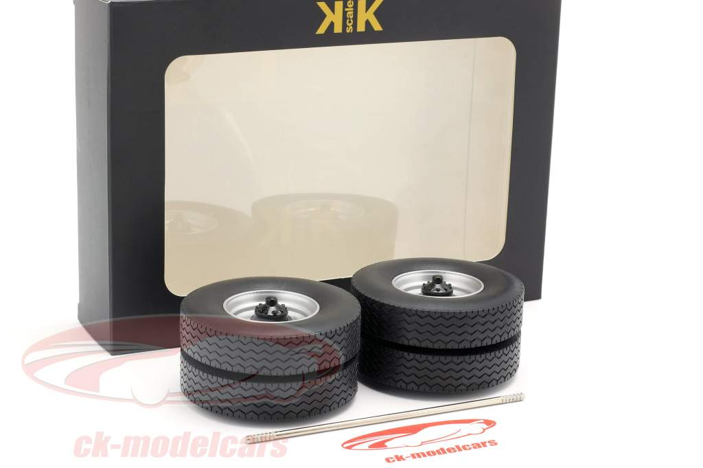 rims and tire Set With axis grey 1:18 Road Kings