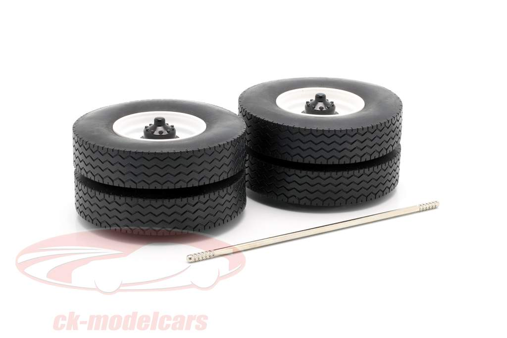 cerchioni e pneumatico Set con asse bianco 1:18 Road Kings